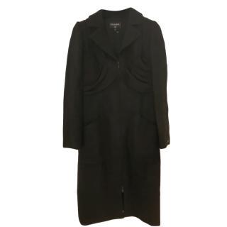 Chanel Black Tweed Wool Dress