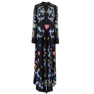 Mary Katrantzou High Neck Pleated Maxi Dress