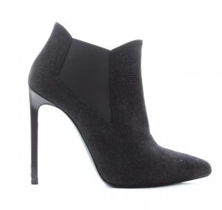 Saint Laurent Glitter Ankle Boots
