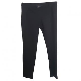 Class Cavalli Black Straight Leg Pants