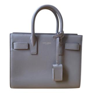 Saint Laurent Grey Nano Sac Du Jour