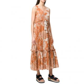See By Chloe Printed Tiered Dress