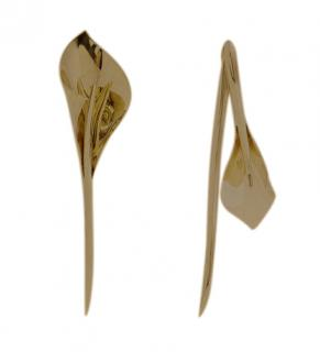 Ryan Storer gold plated Lilies earrings