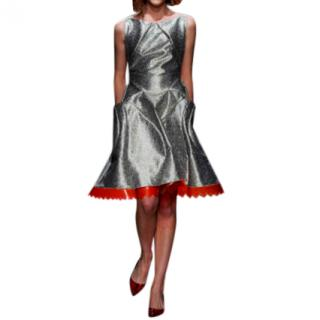 Giles Deacon A-Line Metallic Runway Dress