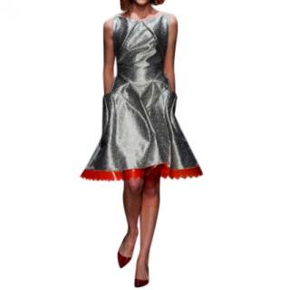 Giles Deacon A-Line Metallic Runway Dress