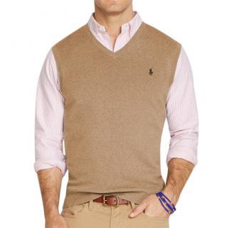 Polo Ralph Lauren Pima Taupe Vest