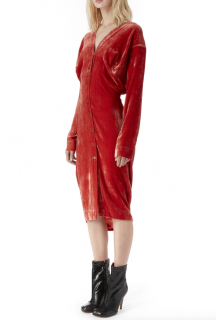 Vivienne Westwood Wilma Orange Velvet Dress