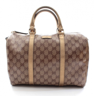 Gucci Bronze Monogram Boston Bag