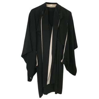 Antonio Berardi Black Silk Kimono Style Dress