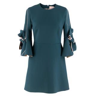 Roksanda Blue Lavete Bow-Embellished Sleeve Dress