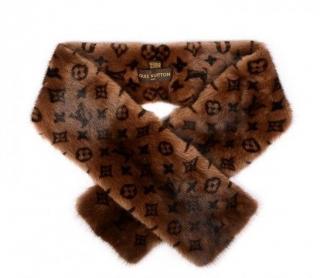 Louis Vuitton Monogram Mink Fur Stole