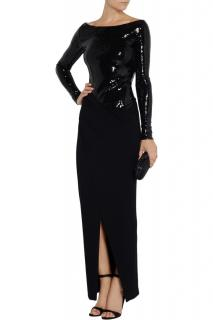 Donna Karan Sequin Embellished Stretch Jersey Gown