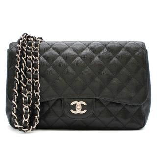 Chanel Black Caviar Leather Large Classic Flap