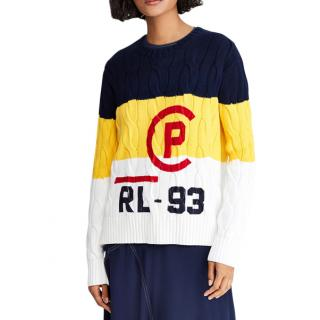 Polo Ralph Lauren women's printed cable stitch sweater