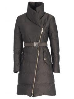 Versace Black Asymmetric Puffer Coat
