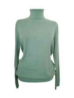 Max Mara Mint Green Roll Neck Jumper