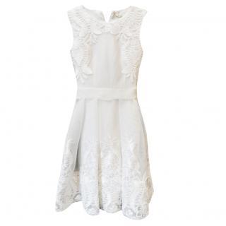Maje White Lace Tulle MIni Dress