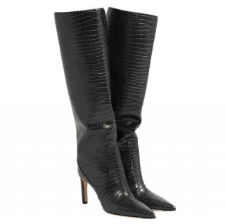 Jimmy Choo Mavis 85 croc-effect leather knee boots