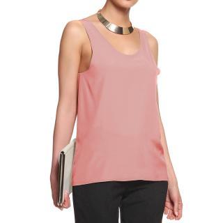 Chloe Soft Pink Silk Sleeveless Top