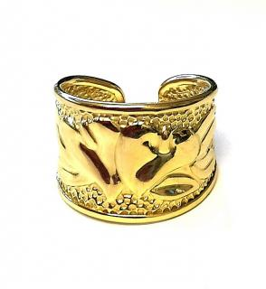 Bassini Floral Yellow Gold Ring