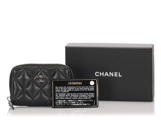 Chanel Matelasse Leather Small Zip-Around  Wallet
