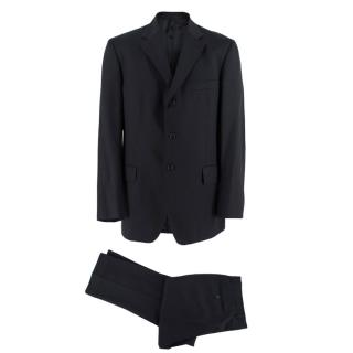 Boggi Black Wool Single Breasted Suit