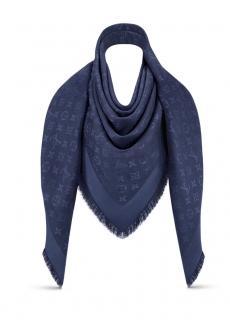 Louis Vuitton Night Blue Monogram Shawl