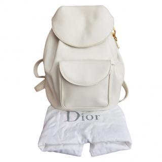 Dior White Vintage Lady Dior Backpack
