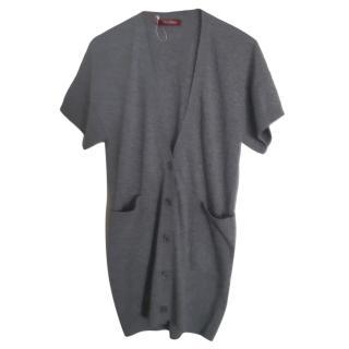 Max Mara Grey Wool & Cashmere Knit Cardigan