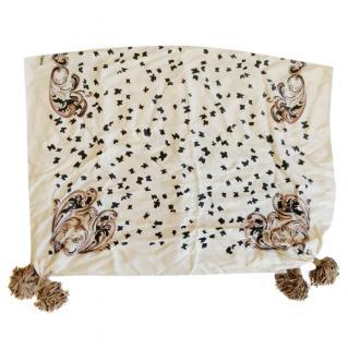 Chloe Baroque Butterfly Print Silk Scarf