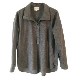 Anna Valentine Wool Grey Oversized Top