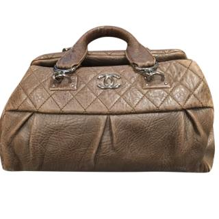 Chanel Brown Aged Leather Doctors Bag