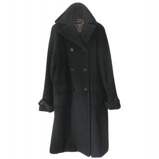 Dolce & Gabbana Black Wool Teddy Coat