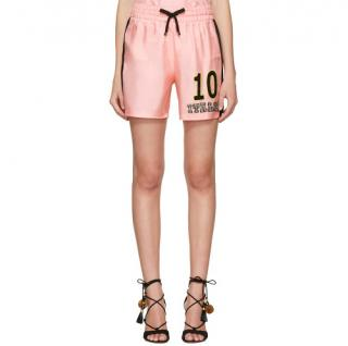 Dolce & Gabbana 'Catwalk Featured' Pink Silk Twill Italia Shorts