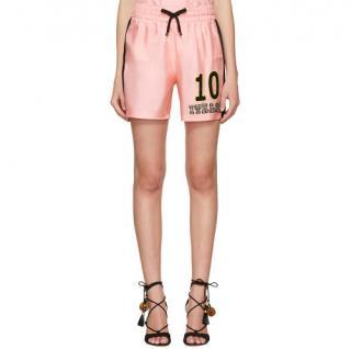 Dolce & Gabbana 'Catwalk Featured' Pink Silk Twill Italia Shorts