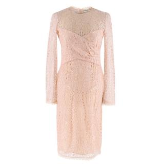 Emilio Pucci Soft Pink Lace Dress