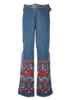 Christian Dior Embroidered Snow Jeans