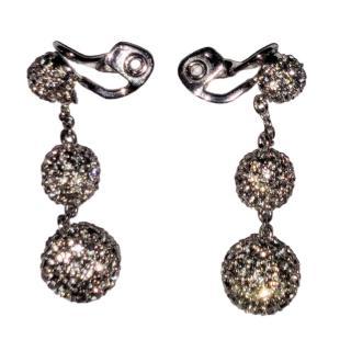 Bespoke Crystal Clip-On Drop Earrings