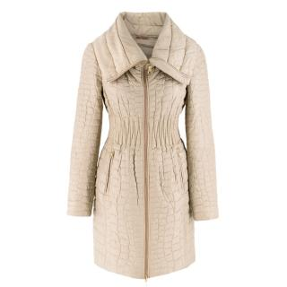 Prada Quilted Silk Midi-Length Coat
