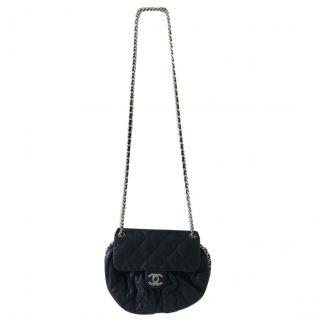 Chanel Black Quilted Leather Half Moon Shoulder Bag