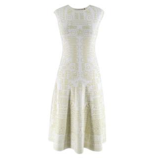 Mary Katrantzou Alphabet Babel Dress In Pastel Green