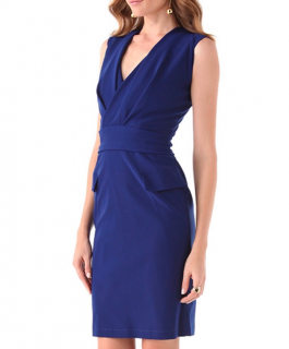 Preen By Thornton Bregazzi Blue Wrap Dress