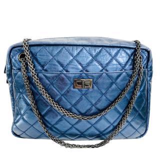 Chanel Metallic Blue Large 2.55 Reissue Camera Bag