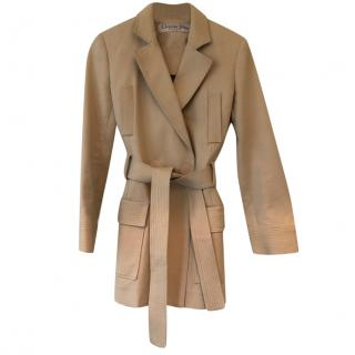 Christian Dior Beige Lightweight Wrap Jacket