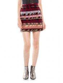 Maje Jakarto Aztec Print Mini Skirt