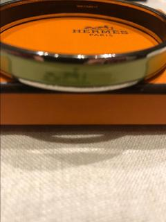 Hermes Mint Green Caleche Narrow Bangle