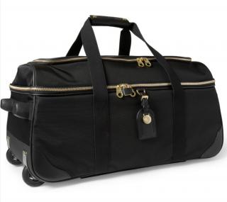 Mulberry Black Henry Leathertrimmed Nylon Wheeled Suitcase