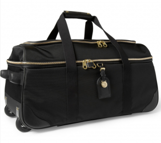 Mulberry Black Henry Leathertrimmed Nylon Wheeled Suitcase