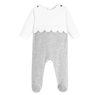 Jacadi Grey & White Cotton Baby Set