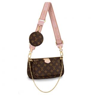 Louis Vuitton Multi Pochette Accessoires in Rose & Monogram
